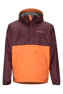 PreCip Eco Anorak, Burgundy/Mandarin Orange, medium
