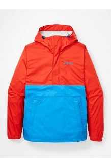 Men's PreCip Eco Anorak, Victory Red/Clear Blue, medium