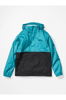 Boys' PreCip Eco Anorak, Enamel Blue/Black, medium