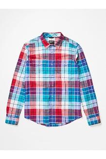 Men's Parkfield Long-Sleeve Shirt, Enamel Blue, medium