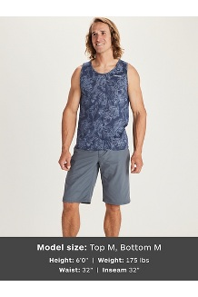 Men's Amp Tank Top, Arctic Navy Antelope Canyon, medium