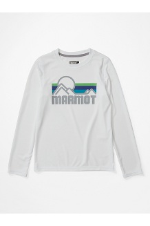Boys' Windridge Long-Sleeve Shirt, White, medium