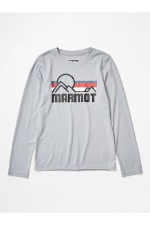 Boys' Windridge Long-Sleeve Shirt, Sleet, medium
