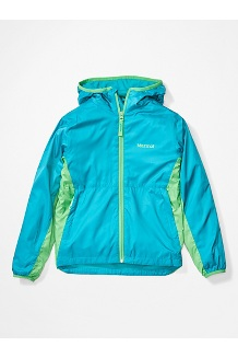 Boys' Trail Wind Hoody, Enamel Blue/Emerald, medium