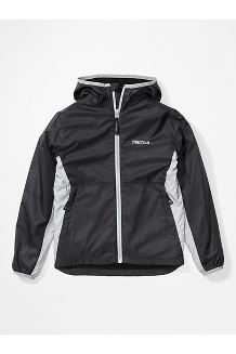 Boys' Trail Wind Hoody, Black/Sleet, medium