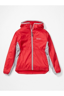 Boys' Trail Wind Hoody, Team Red/Sleet, medium