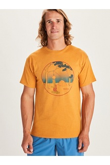 Men's Marmotini Short-Sleeve T-Shirt, Aztec Gold Heather, medium
