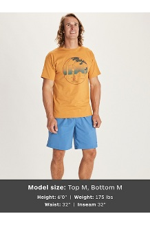 Men's Marmotini Short-Sleeve T-Shirt, Charcoal Heather, medium