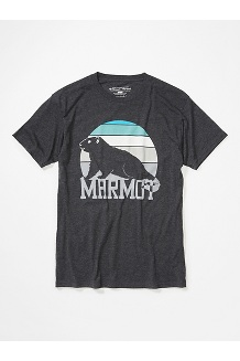 Men's Dawning Marmot Short-Sleeve T-Shirt, Charcoal Heather, medium