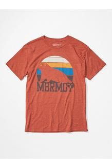Men's Dawning Marmot Short-Sleeve T-Shirt, Picante Heather, medium