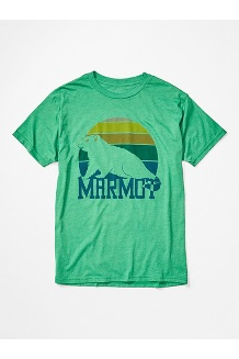 Men's Dawning Marmot Short-Sleeve T-Shirt, Green Heather, medium
