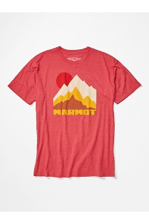Men's Tower Short-Sleeve T-Shirt, Red Heather, medium