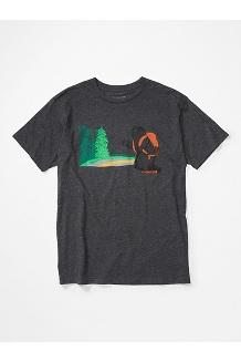 Men's Trek Short-Sleeve T-Shirt, Charcoal Heather, medium