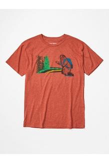 Men's Trek Short-Sleeve T-Shirt, Picante Heather, medium