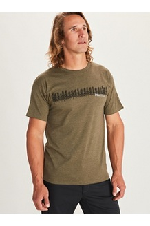 Men's Forest Short-Sleeve T-Shirt, Olive Heather, medium