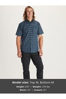 Men's Beacon Hill Short-Sleeve Shirt, Denim, medium