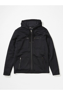 Men's Narrows Fleece Hoody, Black, medium