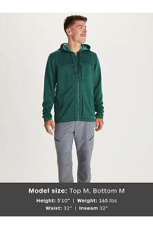 Men's Narrows Fleece Hoody, Botanical Garden, medium