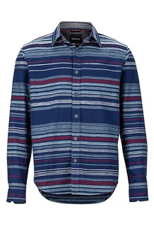 Men's Keystone Heavyweight Flannel Long-Sleeve Shirt, Arctic Navy, medium