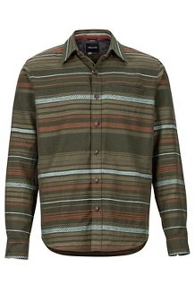 Men's Keystone Heavyweight Flannel Long-Sleeve Shirt, Rosin Green, medium