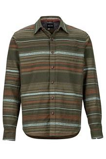 Men's Keystone Heavyweight Flannel Long-Sleeve Shirt, Rosin Green, medium