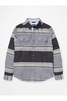 Men's Del Norte Midweight Flannel Long-Sleeve Shirt, Dark Steel, medium