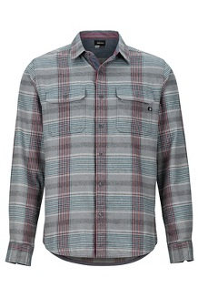 Men's Del Norte Midweight Flannel Long-Sleeve Shirt, Slate Grey, medium
