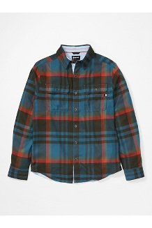 Men's Del Norte Midweight Flannel Long-Sleeve Shirt, Stargazer, medium