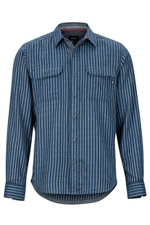 Men's Del Norte Midweight Flannel Long-Sleeve Shirt, Arctic Navy, medium
