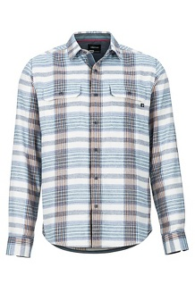 Men's Del Norte Midweight Flannel Long-Sleeve Shirt, Turtledove, medium