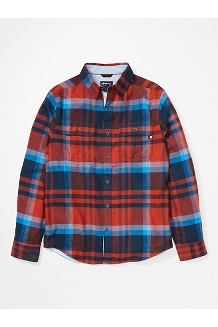 Men's Del Norte Midweight Flannel Long-Sleeve Shirt, Picante, medium