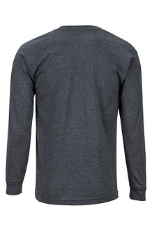Men's Piste Long-Sleeve T-Shirt, Charcoal Heather, medium