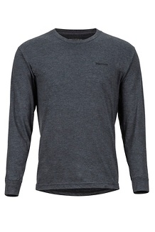Men's Woodcut Long-Sleeve T-Shirt, Charcoal Heather, medium