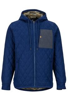 Men's Mt. Rose Insulated Flannel Long-Sleeve Shirt, Arctic Navy, medium