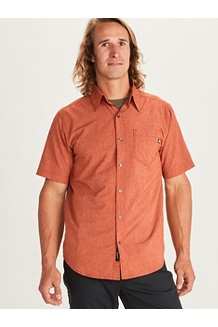 Men's Aerobora Short-Sleeve Shirt, Picante, medium