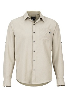 Men's Aerobora Long-Sleeve Shirt, Light Khaki, medium