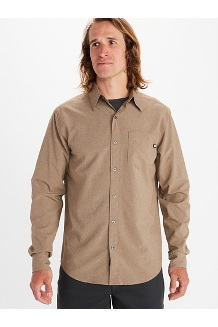 Men's Aerobora Long-Sleeve Shirt, Desert Khaki, medium