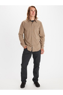 Men's Aerobora Long-Sleeve Shirt, Moonbeam, medium