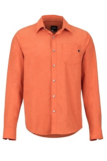 Men's Aerobora Long-Sleeve Shirt, Orange Haze, medium