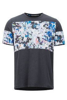 Gualala Point SS Tee, Dark Steel/Multi Crystals, medium