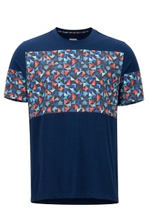 Gualala Point SS Tee, Arctic Navy/Multi Triangles, medium