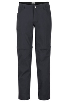 Men's Transcend Convertible Pants, Black, medium