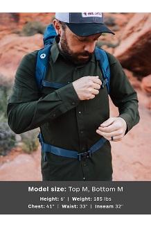 Men's Lisgar Long-Sleeve Shirt, Rosin Green, medium
