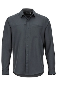 Men's Lisgar Long-Sleeve Shirt, Dark Steel, medium