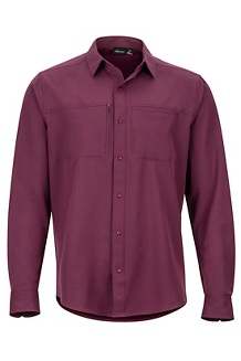 Men's Lisgar Long-Sleeve Shirt, Fig, medium