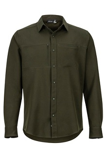 Men's Lisgar Long-Sleeve Shirt, Rosin Green, medium