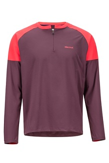 Bowery LS Shirt, Burgundy/Blush, medium
