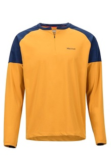 Bowery LS Shirt, Aztec Gold/Arctic Navy, medium