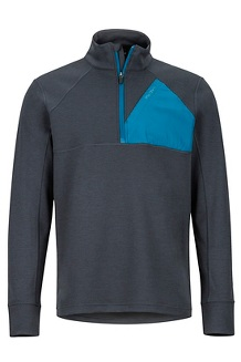 Men's Hanging Rock 1/2-Zip Pullover, Dark Steel/Moroccan Blue, medium