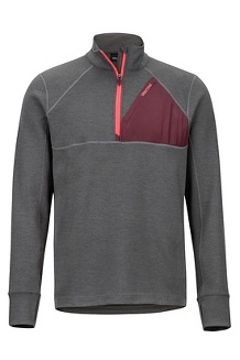 Men's Hanging Rock 1/2-Zip Pullover, Slate Grey/Burgundy, medium
